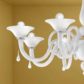 Artisan 8 Lights Lysekrone i Venedig glas, fremstillet i Italien - Margherita
