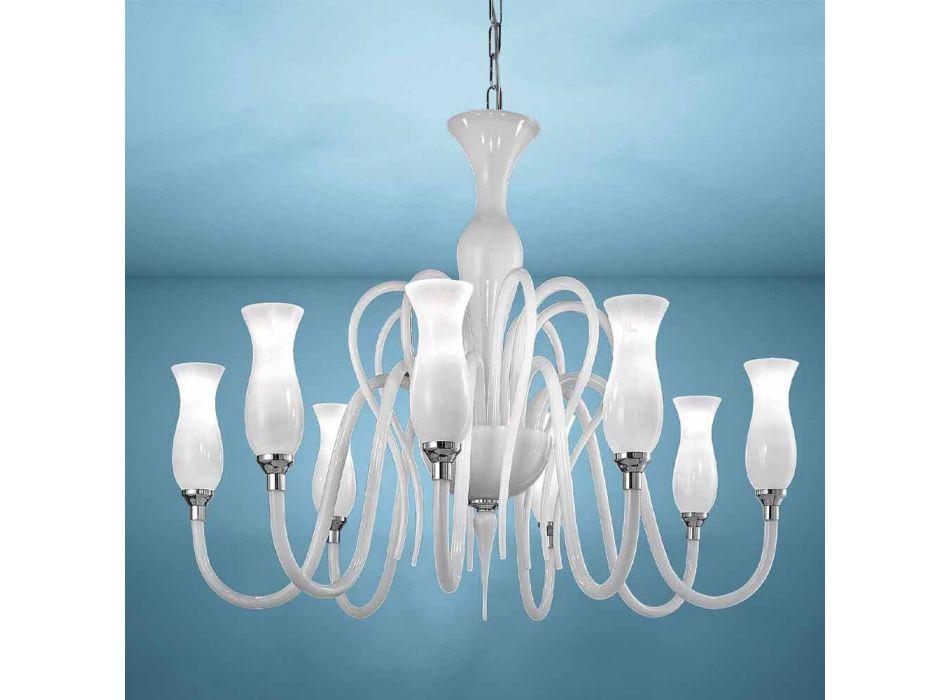 Artisan 8 lys venetiansk lysekrone, fremstillet i Italien - Vittoria