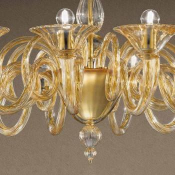12 lys håndlavet venetiansk lysekrone fremstillet i Italien - Margherita