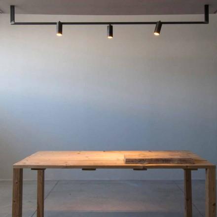 Lysekrone i moderne design håndlavet i sort jern fremstillet i Italien - Pamplona