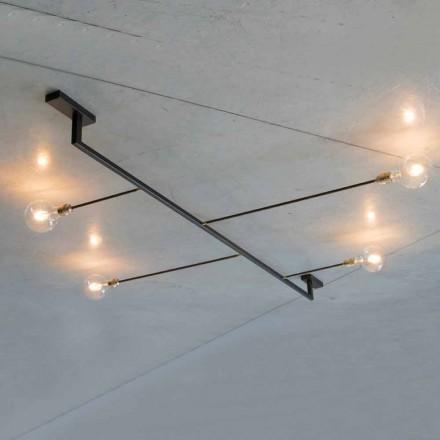 Håndlavet lysekrone i jern med 4 lys fremstillet i Italien - Anima