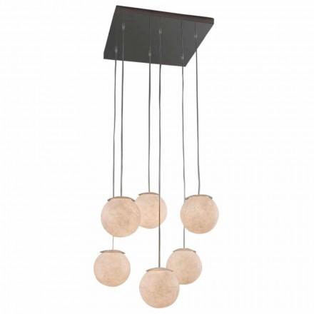 Moderne design lysekrone In-es.artdesign Sei Lune i nebulit