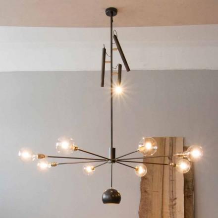 Moderne lysekrone med jernkonstruktion lavet i Italien - Stilla