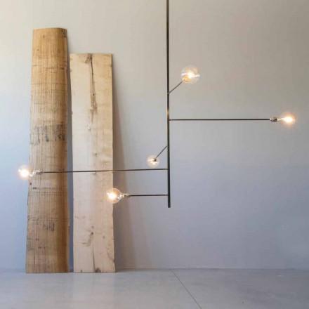 Moderne håndlavet lysekrone med jernkonstruktion fremstillet i Italien - Tinna