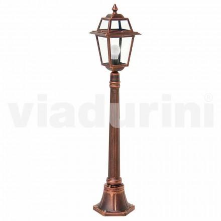 Udendørs lav lamppost lavet med aluminium, produceret i Italien, Kristel