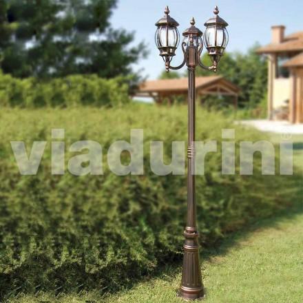 Udendørs lamper med to lamper lavet af aluminium, lavet i Italien, Anika