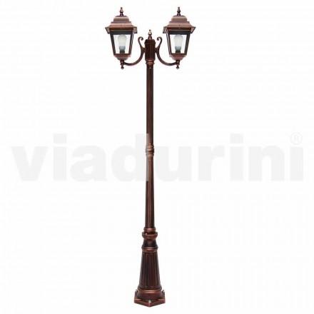 Udendørs lamper med to lamper lavet af aluminium, lavet i Italien, Aquilina