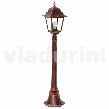 Udendørs lav lamppost lavet med aluminium, produceret i Italien, Aquilina
