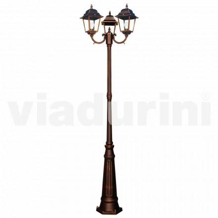 Klassisk udendørs tre-lamper, produceret i Italien, Aquilina