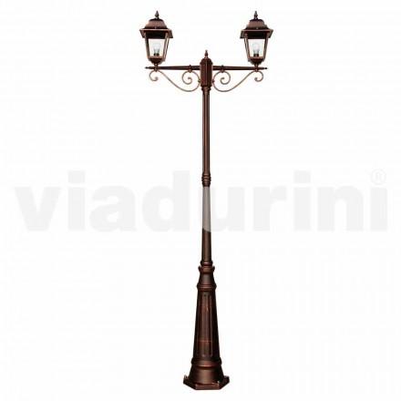 Udendørs klassisk lamppost lavet af aluminium, lavet i Italien, Aquilina