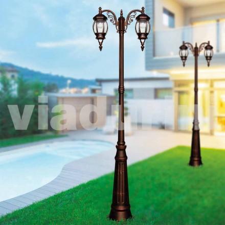 Klassisk udendørs lamppost lavet med støbt aluminium, lavet Italien, Anika