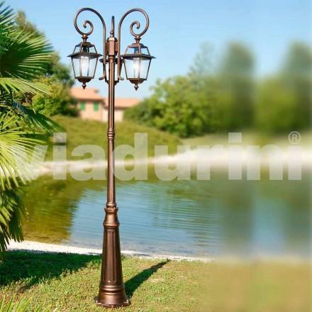 Garden lamper med tre lamper lavet af aluminium, fremstillet i Italien, Kristel