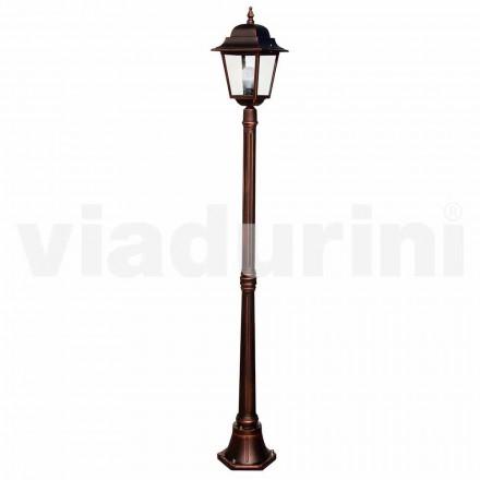 Klassisk haven lamppost lavet med aluminium, lavet i Italien, Aquilina