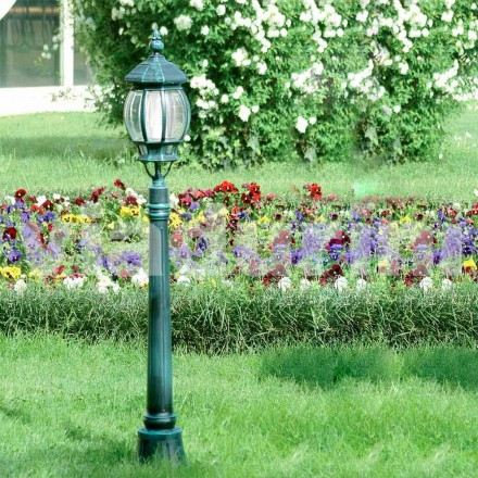 Have lygte støbt med støbt aluminium, lavet i Italien, Anika