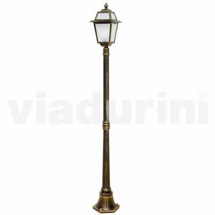 Klassisk udendørs lamppost lavet med aluminium, lavet i Italien, Kristel