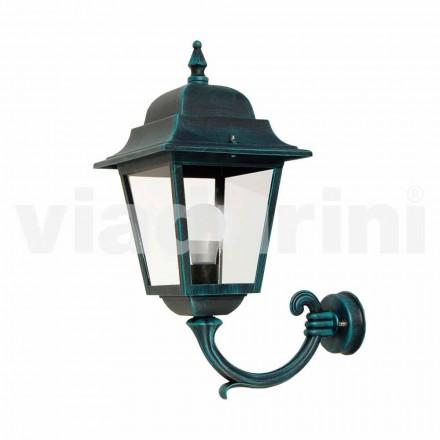 Havemuren lanterne lavet med aluminium, produceret i Italien, Aquilina