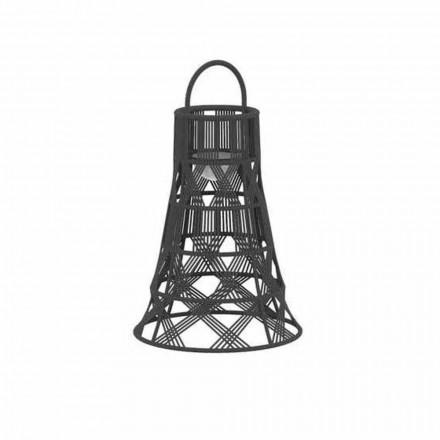 Udendørs Led-lanterne i reb og aluminiums luksusdesign - Tribal af Talenti