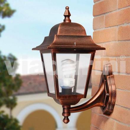 Havemuren lanterne lavet med aluminium, lavet i Italien, Aquilina