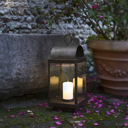 Have lanterne med jern eller messing stearinlys Il Fanale