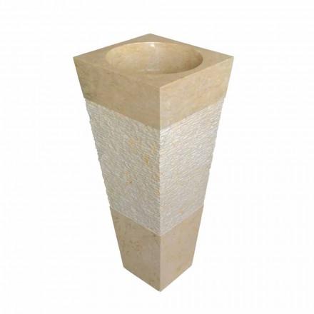 pyramideformet kolonne synke i natursten beige Nias