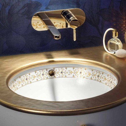 Design barok indbygget vask i ild ler lavet i Italien, Egeo