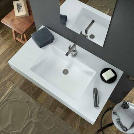 Moderne hængende håndvask i Texolid produceret i Italien, Rufina
