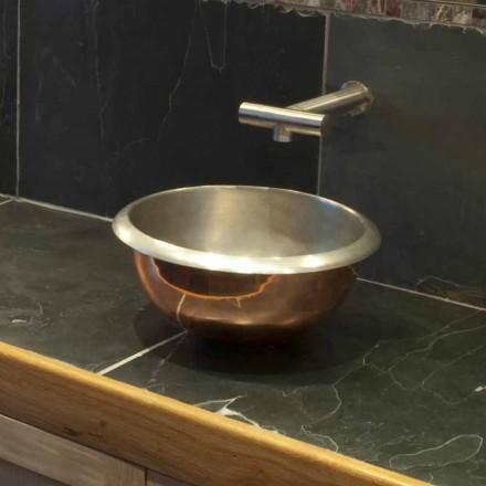 Sink design support kobber med satin nikkel overflade Pure