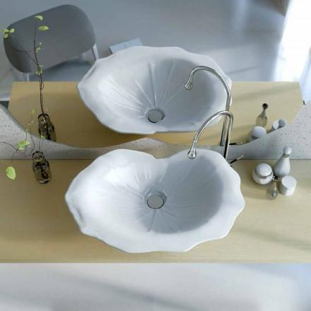 Moderne design håndvask i form af et Faruglium blad