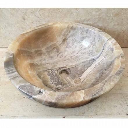 Countertop håndvask i naturlig onyx sten Ana, håndlavet