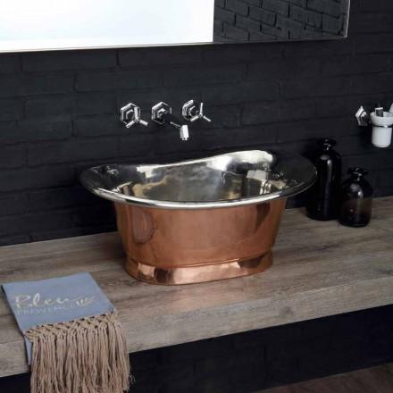 Synke badeværelse til at understøtte kobber færdig i poleret nikkel Calla