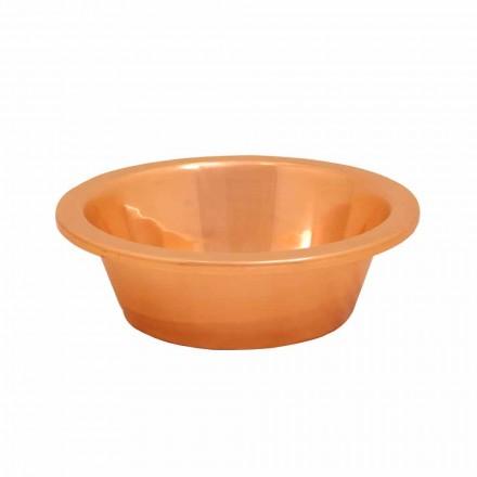 Håndvask fra kobber bærende håndlavede Sun