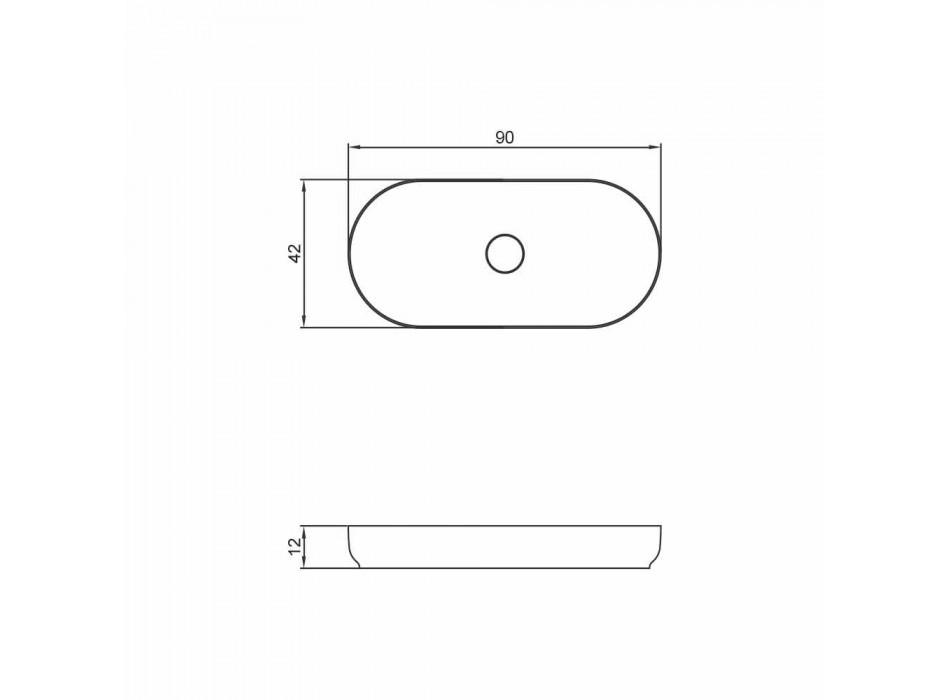 Moderne design fritstående badeværelsevask lavet i Italien Dalmine Maxi