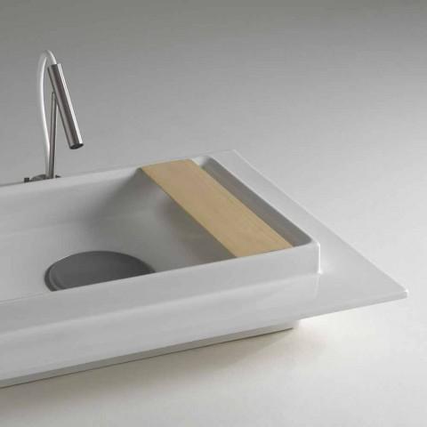 Basin badeværelse keramisk rektangulære moderne design Fred