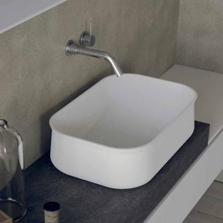 Moderne design bordplade Rektangulær hvid håndvask til badeværelset - Tulyp2