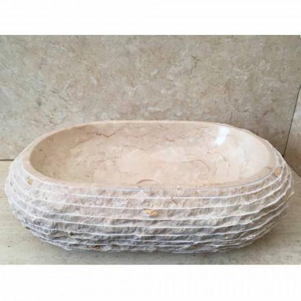 Cora oval hvid håndvask, håndlavet