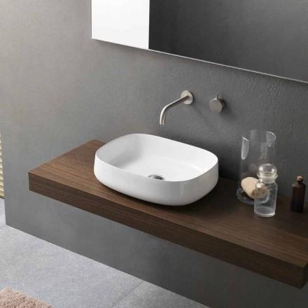 Moderne design hvid bordplade keramisk håndvask lavet i Italien - Tune2