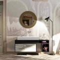 Badeværelse top med centralt integreret håndvask i Luxolid Voghera