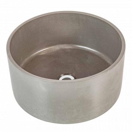 Countertop design cirkulær håndvask i håndlavet cement Rivoli