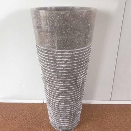 Konisk kolonne håndvask i natursten Iga, unikt stykke