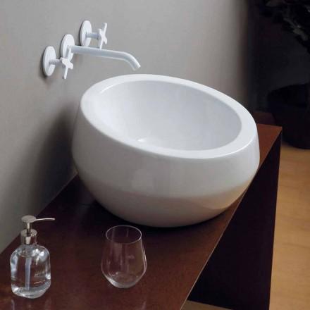 Cirkulær design keramisk håndvask lavet i Italien Elisa