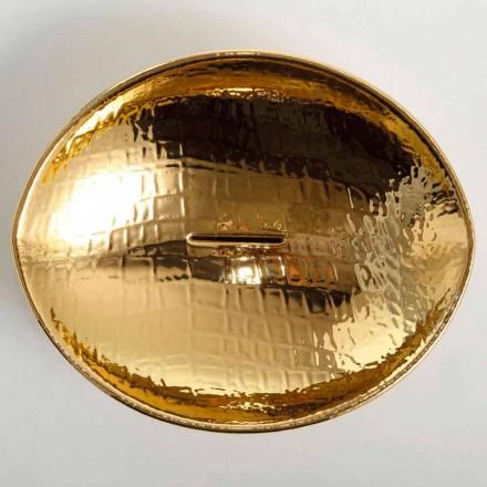 Countertop design keramisk håndvask guld lavet i Italien Dyr