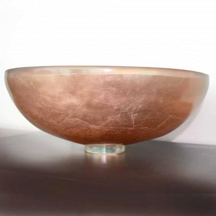 Design køkkenvask i gennemsigtig harpiks og kobber - Salvatore