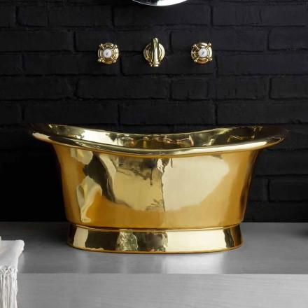 Håndvask design support udelukkende af messing Calla
