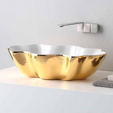 Moderne design keramisk håndvask lavet i Italien Cube