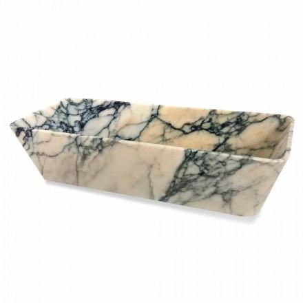 Bordvask i Paonazzo marmor kvadratisk design fremstillet i Italien - Karpa