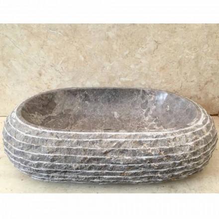 Ivy grå sten bordplade håndvask, unikt stykke