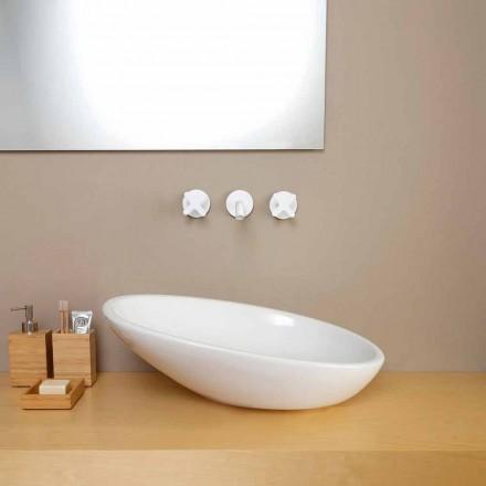 Design skrå keramisk håndvask lavet i Italien Glossy