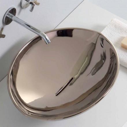 Moderne bordtæppe keramisk håndvask i platin lavet i Italien Dyr
