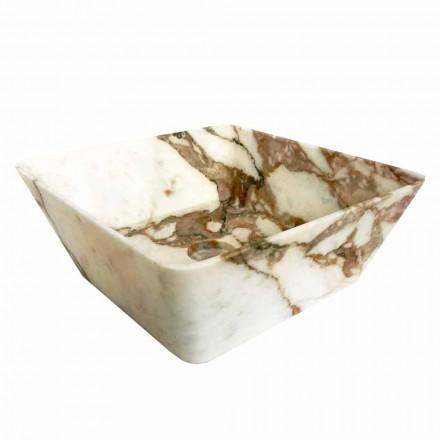 Moderne håndvask til bordplade i Calacatta marmor af Made in Italy Design - Kuore
