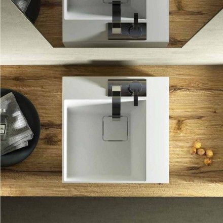 Moderne design firkantet bordplade lavet 100% i Italien, Lavis